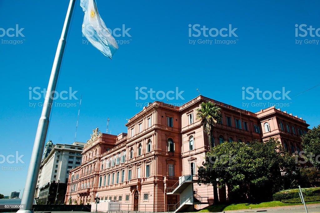 Presidential Pink House (Casa Rosada) - Buenos Aires - Argentina stock photo