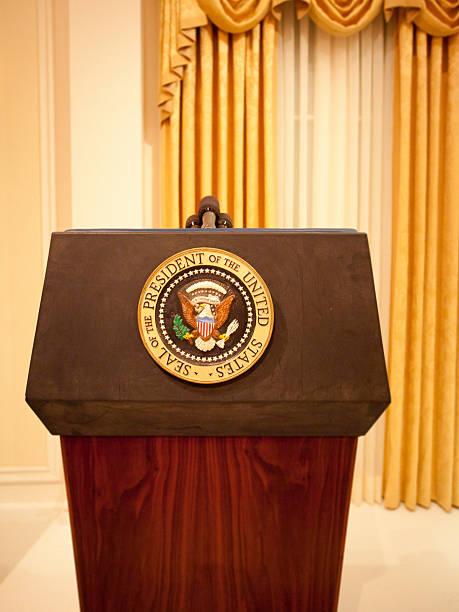 президентский подиум - президент стоковые фото и изображения