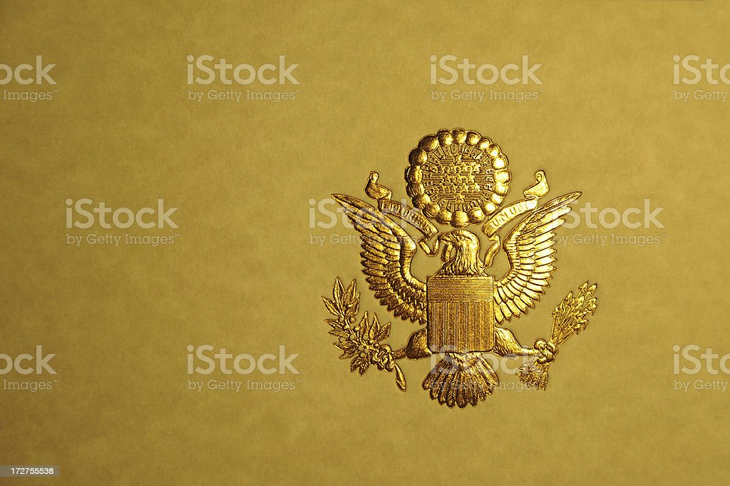 Presidential Seal royalty-free stock photo