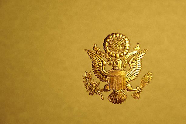 Presidential Seal stock photo