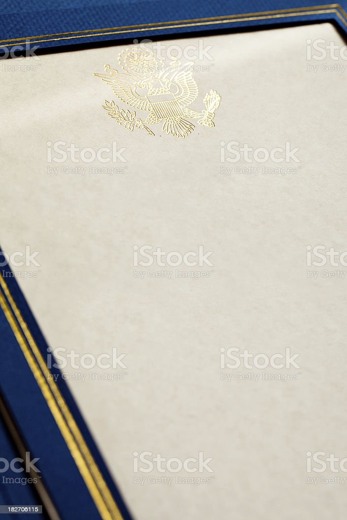 Presidential Seal royalty-free stock photo
