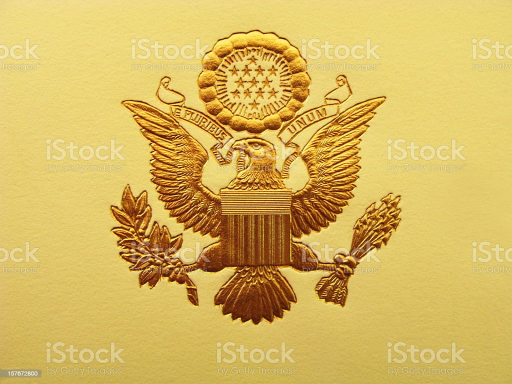 Presidential Seal President USA Coat Of Arms royalty-free stock photo