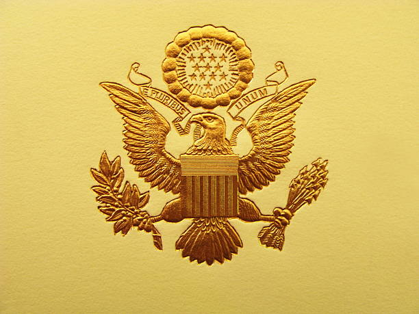 presidential seal president usa coat of arms - stamper stock photos and pictures