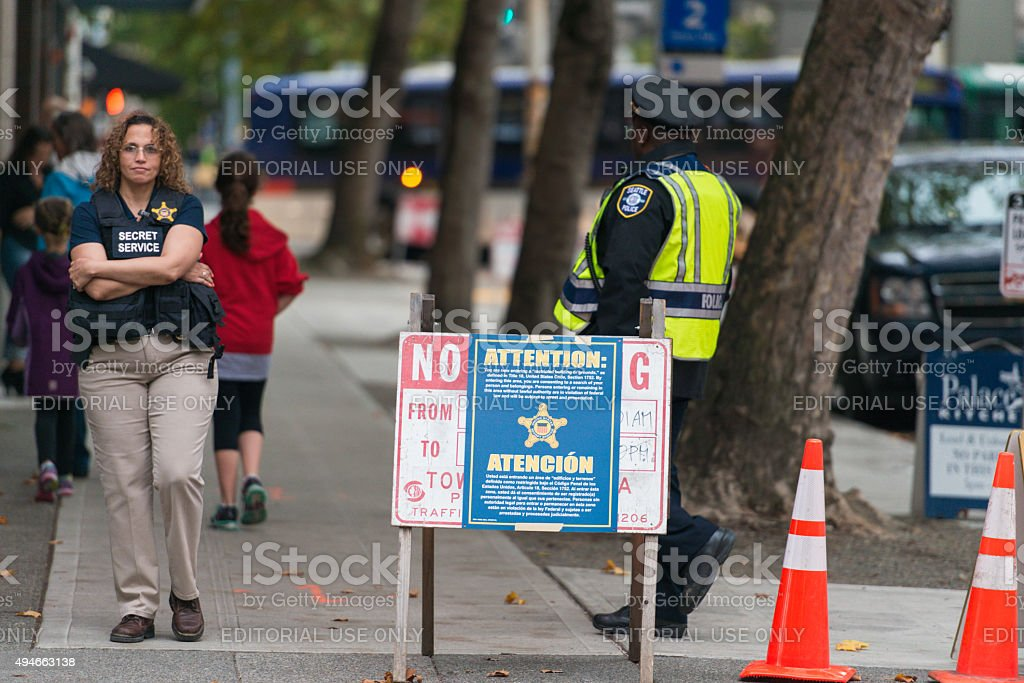 Presidential Security stock photo