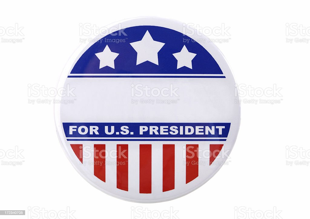 Presidential Support Pin royalty-free stock photo