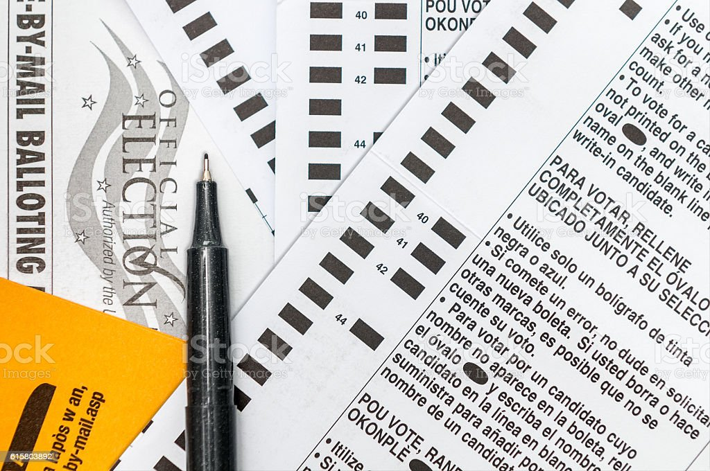 Presidential Voting Ballot stock photo