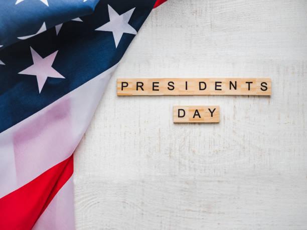 dia do presidente. lindo cartão de felicitações. vista superior - presidents day - fotografias e filmes do acervo