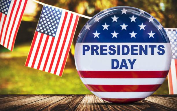 botão do dia do presidente - presidents day - fotografias e filmes do acervo