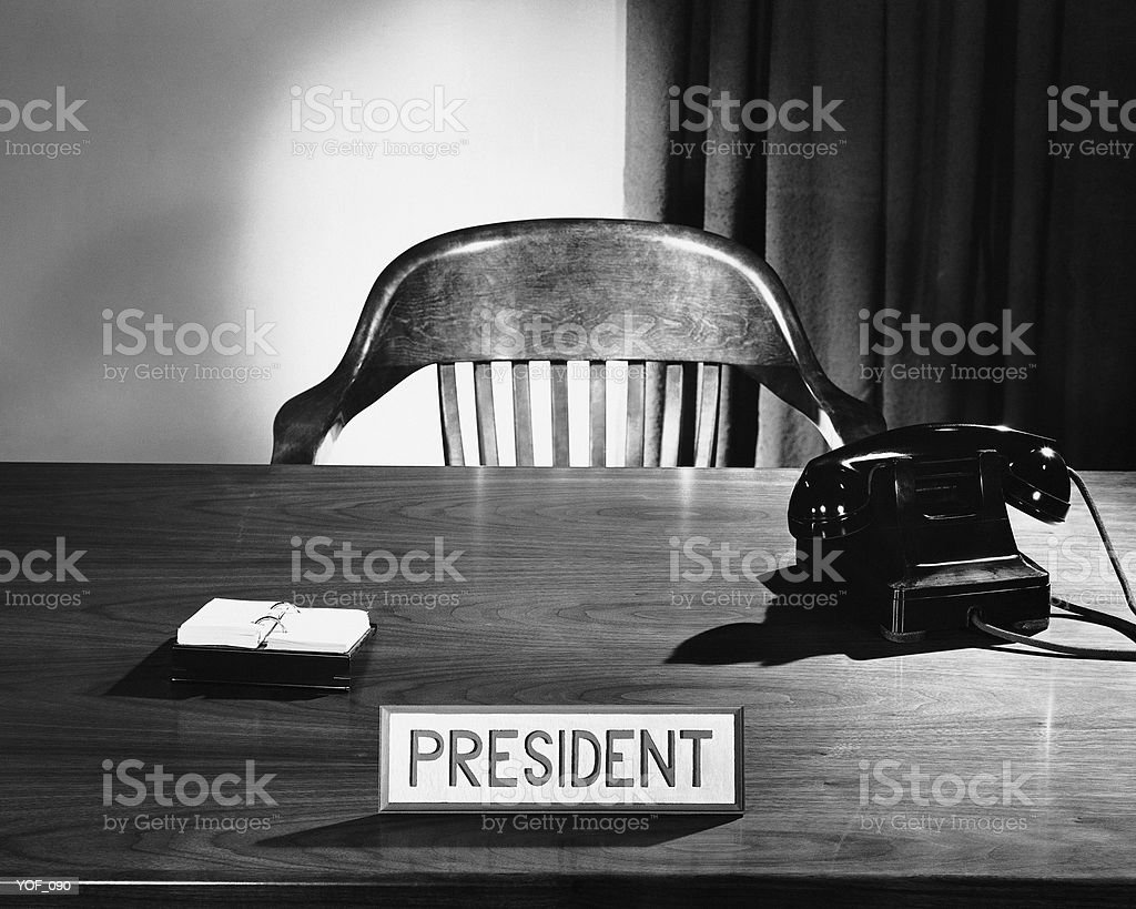 President's desk and chair royalty-free stock photo