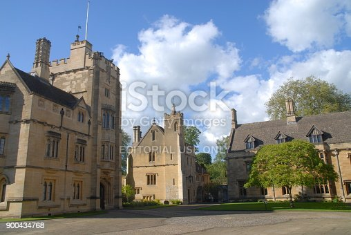 Oxford, United Kingdom - May 18, 2015: President´s Lodgings at Magdalen College