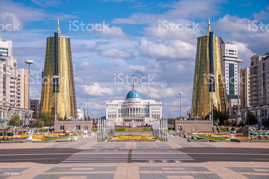 ASTANA, KAZAKHSTAN REPUBLIC President's Palace Acorda stock photo