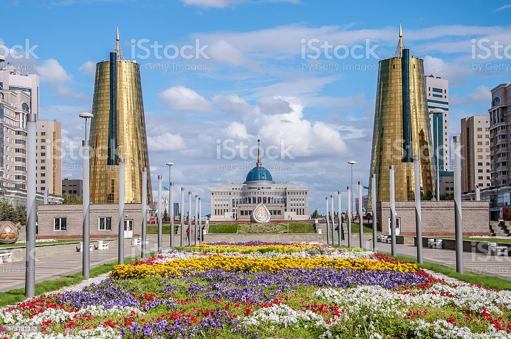 ASTANA, KAZAKHSTAN REPUBLIC President's Palace Acorda stock photo