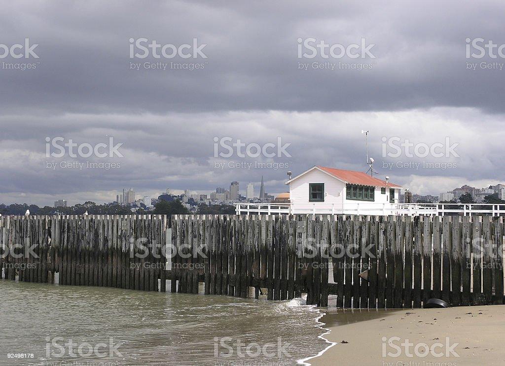 Presidio Beach, SF royalty-free stock photo