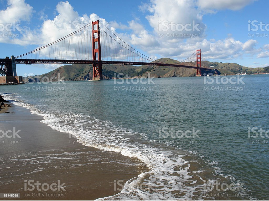 Presidio National Park View Of Golden Gate Bridge royalty-free stock photo