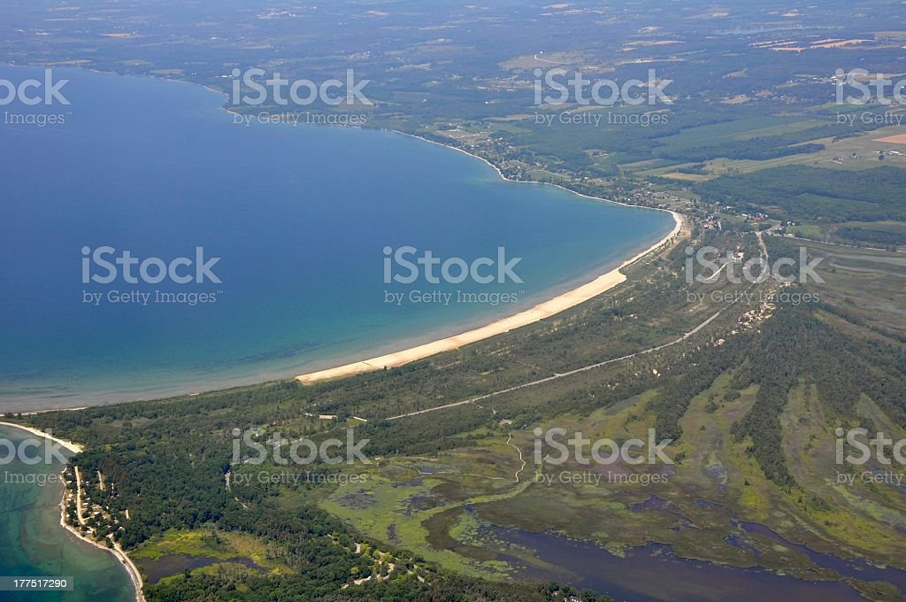 Presqu'ile Provincial Park, aerial stock photo