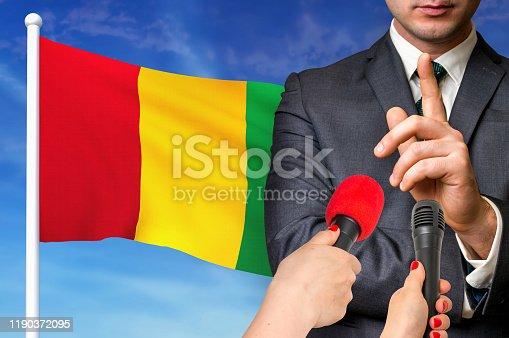 istock Press conference in Guinea 1190372095