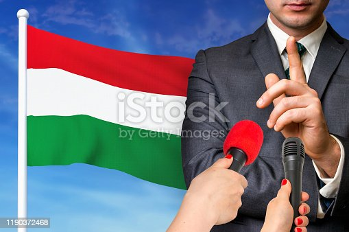 istock Press conference in Hungary 1190372468