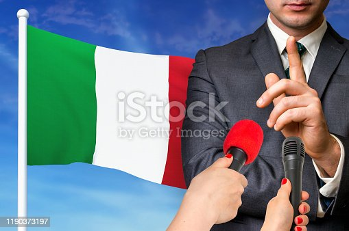 istock Press conference in Italy 1190373197