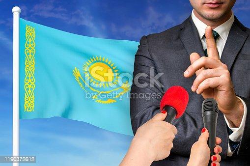 istock Press conference in Kazakhstan 1190372612