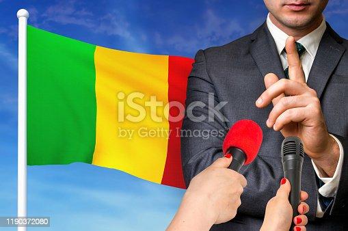 istock Press conference in Mali 1190372080