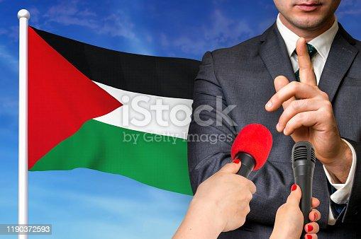 istock Press conference in Palestine 1190372593