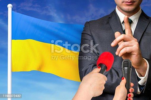 istock Press conference in Ukraine 1190372432