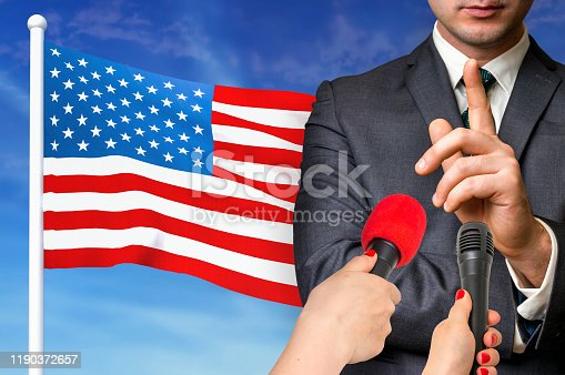 istock Press conference in United States of America 1190372657