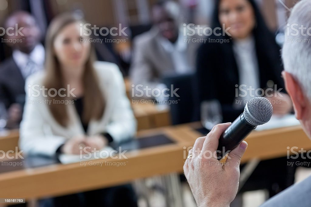 Press conference royalty-free stock photo