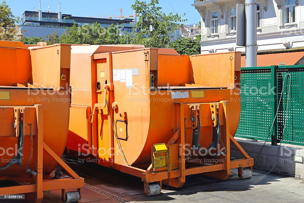 Press Container stock photo