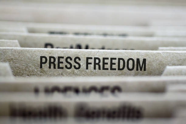 Press freedom file folder stock photo