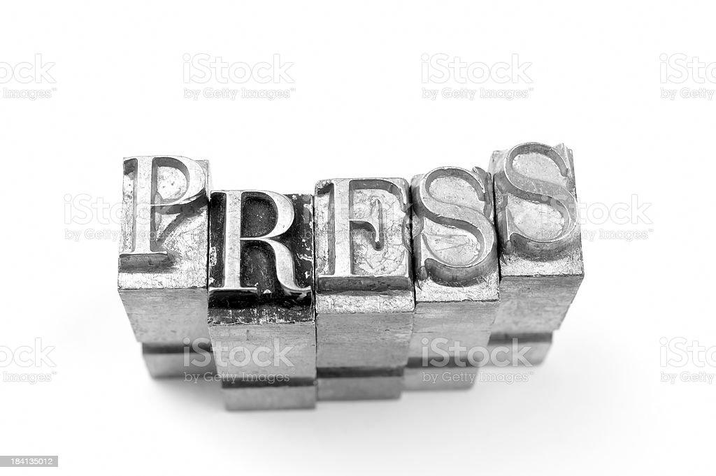Press - letterpress royalty-free stock photo