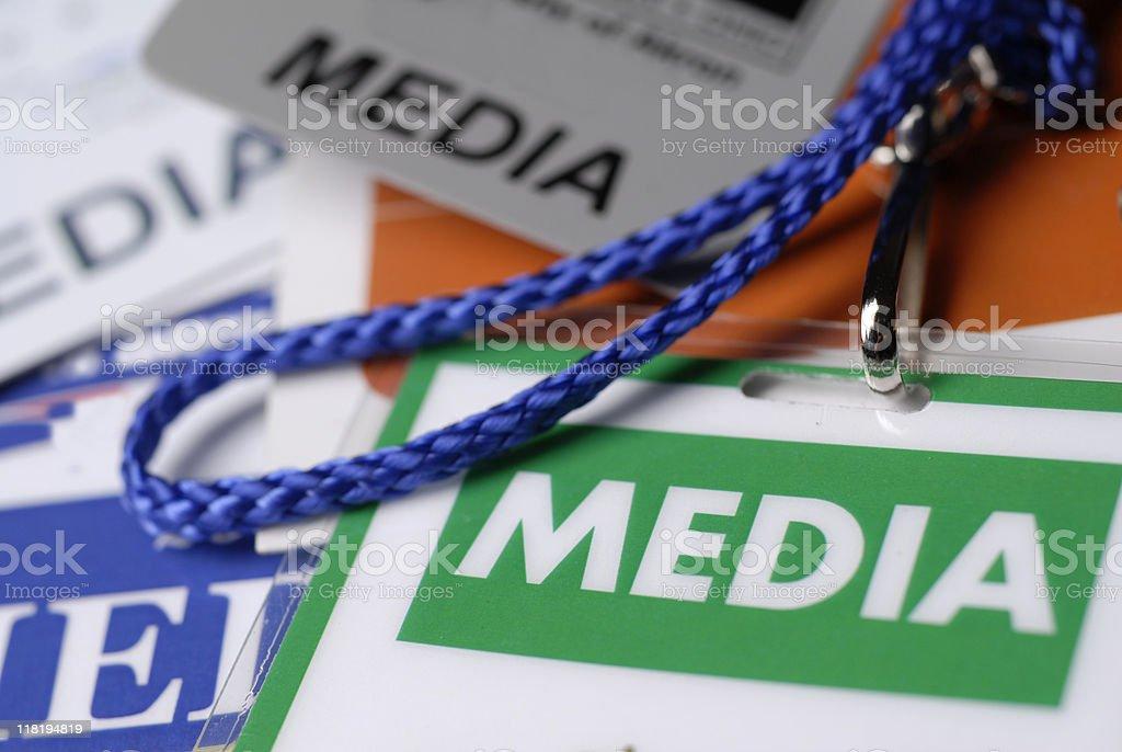 Press Pass royalty-free stock photo
