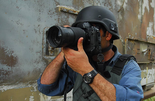 Press Photojournalist Photographer stock photo