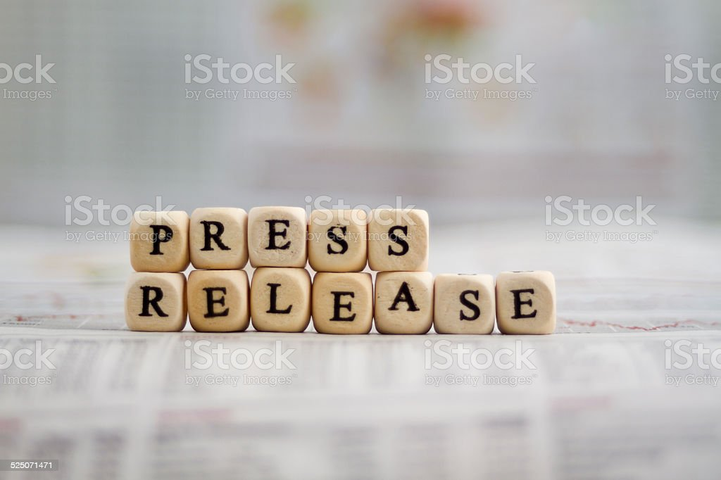 Press release stock photo