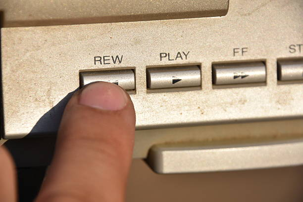 Press rewind stock photo
