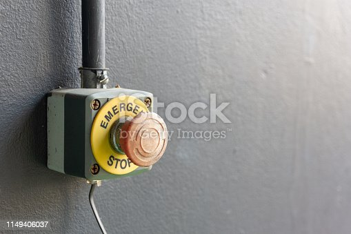 istock Press the emergency stop button 1149406037