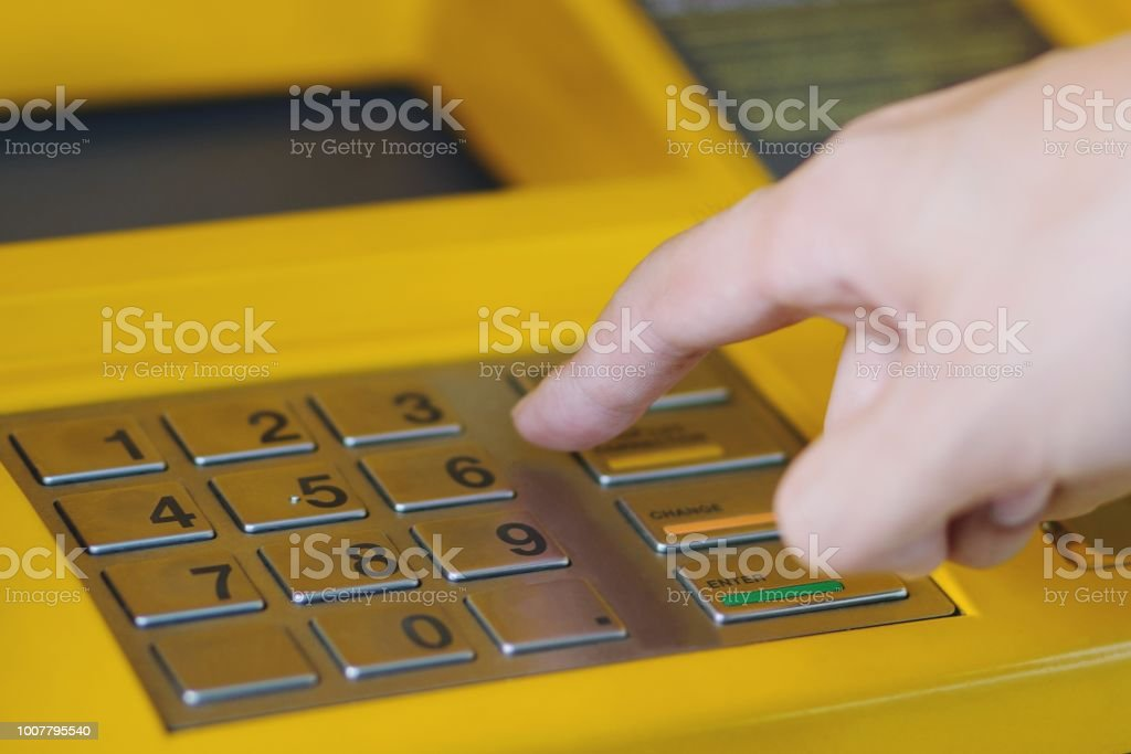 Press The Money The Password Atm Machine Put Your Hands Off Protect