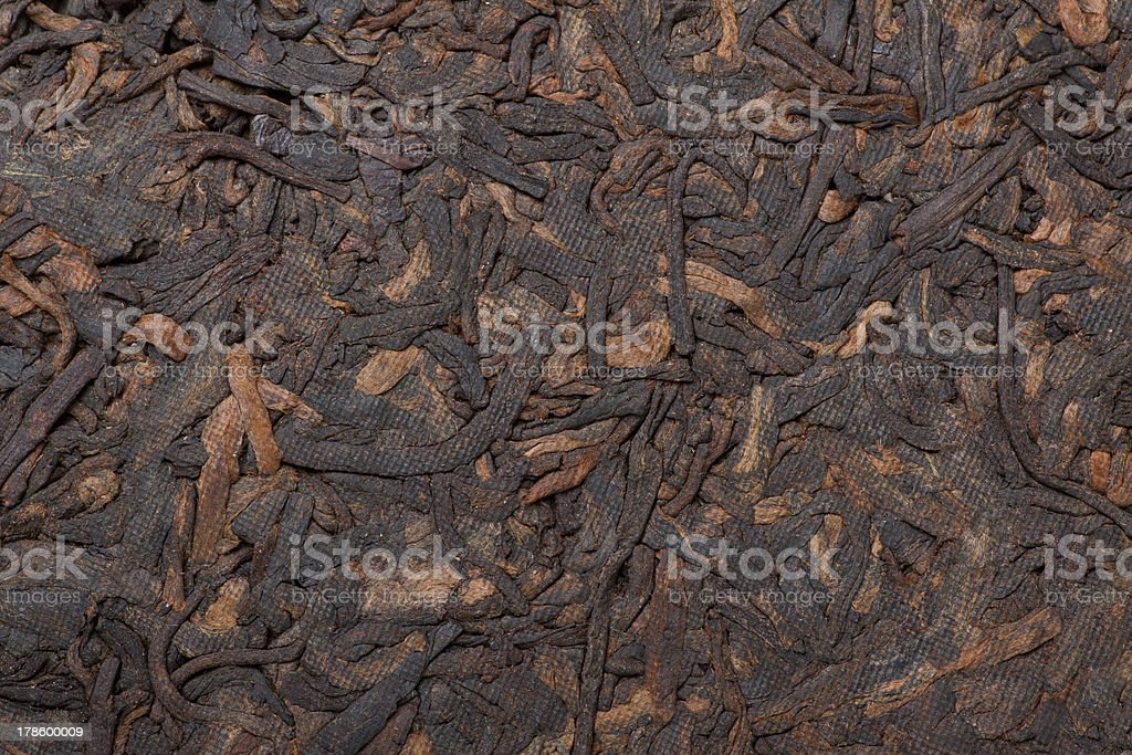 pressed tea puer, background royalty-free stock photo