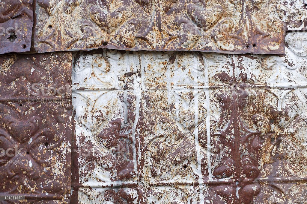 Pressed Tin Background royalty-free stock photo