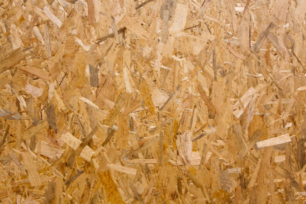 Pressed wood chips board. stock photo