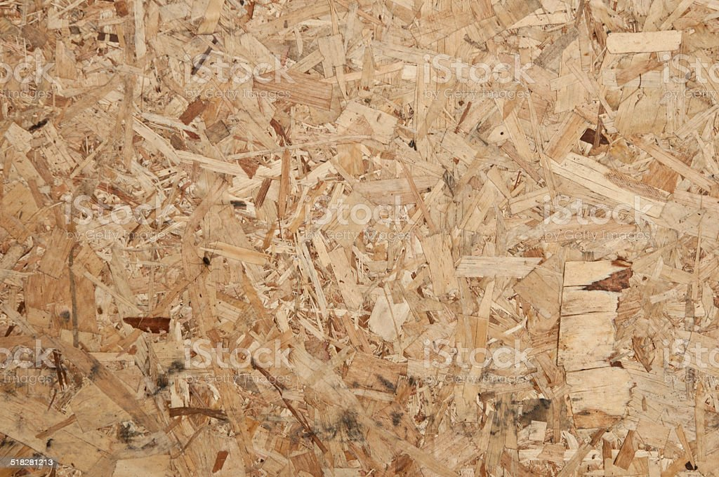 Pressed Wooden Panel (OSB). stock photo