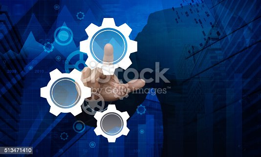 istock Pressing gear icon, Elements of this image furnished by NASA 513471410