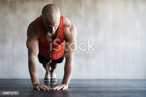 istock Pressing on and increasing his stamina 498315751