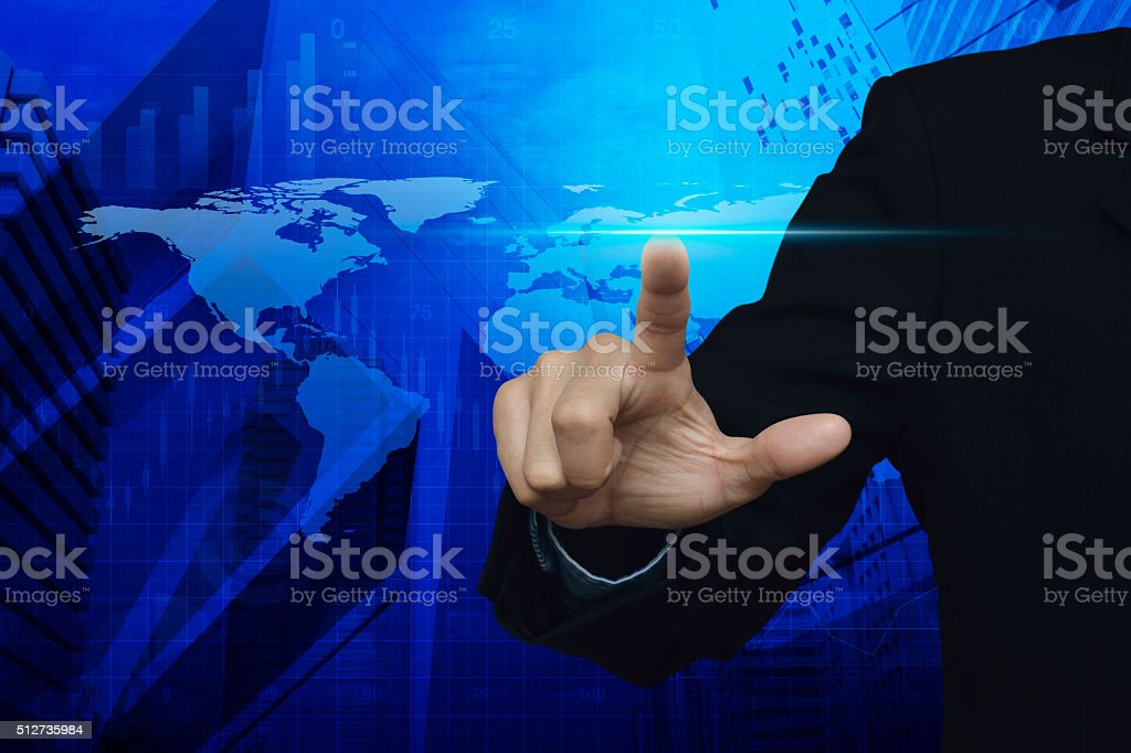 Pressing power light, Elements of this image furnished by NASA stock photo