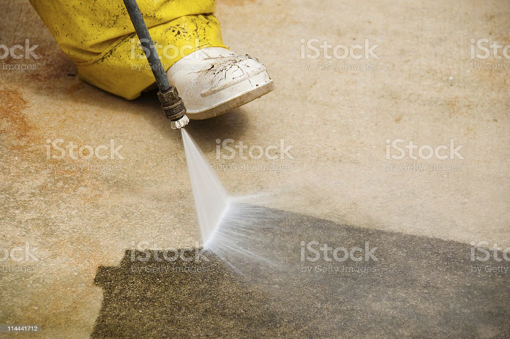 Pressure cleaning royalty-free stock photo