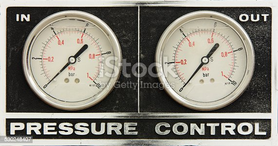 Two pressure control panel