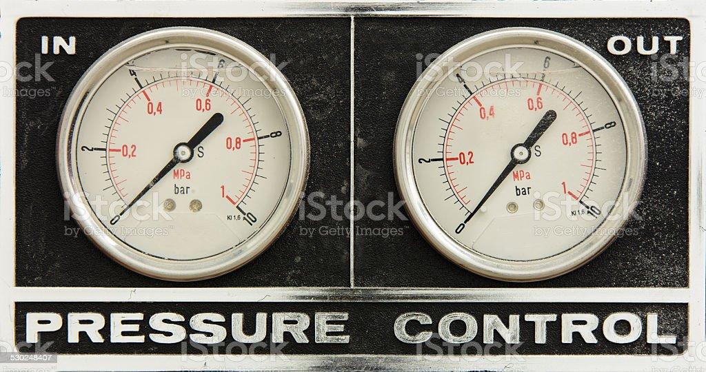 Pressure control stock photo