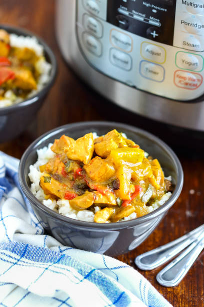 Pressure Cooker Chicken Curry stock photo