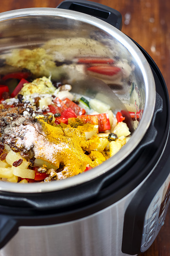 Pressure Cooker Chicken Curry Stock Photo - Download Image Now