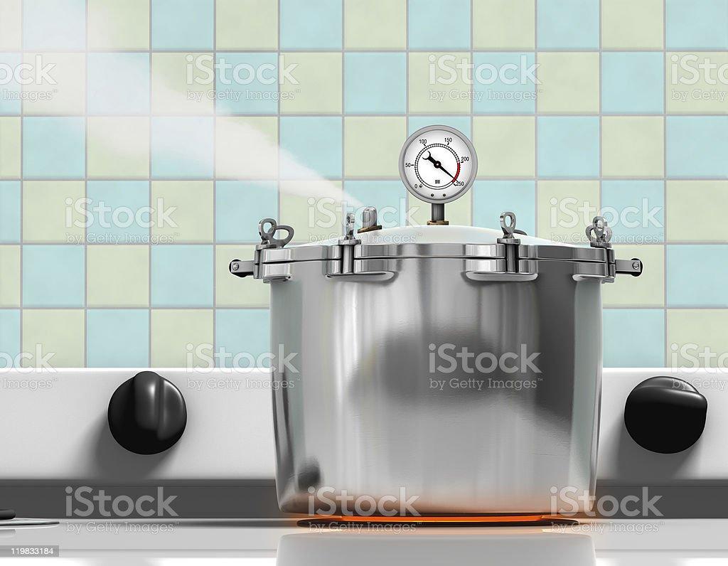 Pressure Cooker stock photo